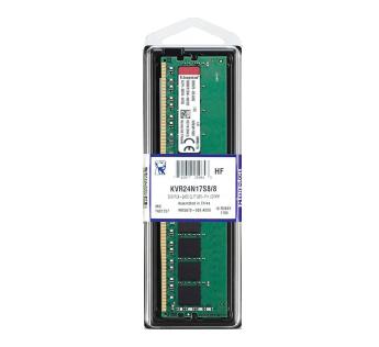 Kingston ValueRAM 8GB 2400MHz DDR4 Non-ECC CL17 DIMM 1Rx8 Desktop Memory KVR24N17S8 8 by Kingston