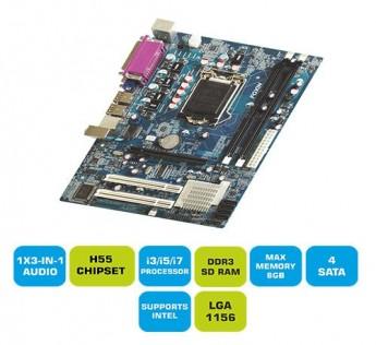 Foxin Motherboard H55 Motherboard 1156 Socket Motherboard FMB