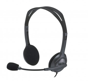 Logitech H111 Wired Headset, Stereo Headphones with Noise-Cancelling Microphone
