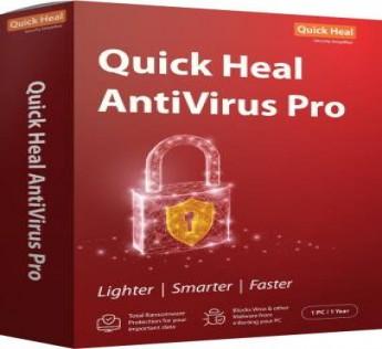 Quick Heal Antivirus - 10 PCs, 1 Year (DVD)