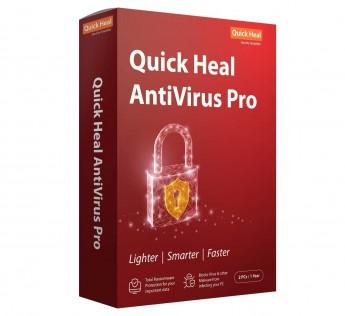 Quick Heal Antivirus - 3 Pc, 1 Year (CD/DVD)