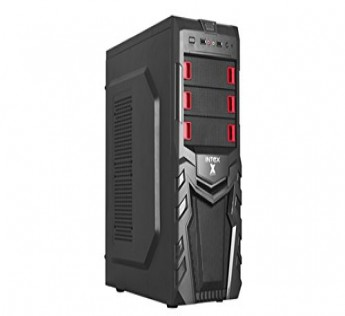Intex Cabinet P4 IT 1071 Cabinet Redstone W SMPS USB Cabinet (Black)
