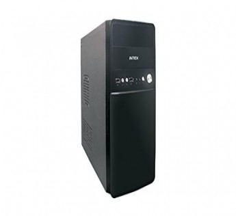 Intex Cabinet P4 IT 1651 Cabinet w SMPS USB Cabinet (Black)