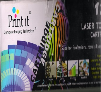 PRINT IT 12A Lazerjet plastic Cartridge for HP and Canon Printers