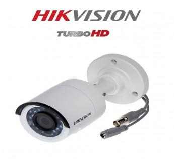 Hikvision Camera HD Outdoor Bullet Camera Series DS 2CE1AD0T IRPF 2 MP 1080P Turbo HD Outdoor Bullet Camera (White)