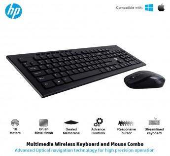 HP Keyboard and Mouse Combo 4SC12PA USB Wireless/Cordless Spill Resistance Keyboard and Mouse Combo