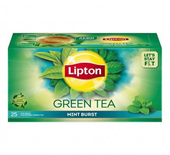 Lipton Green Tea Bag Mint Burst, 25 N
