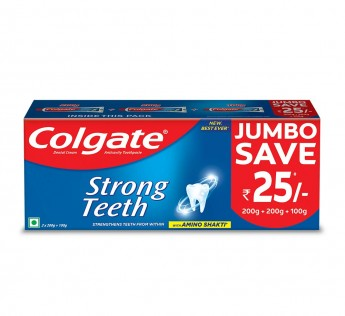Colgate Strong Teeth Anticavity Toothpaste with Amino Shakti 500gm Colgate Toothpaste