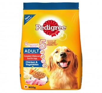 Pedigree Adult Dry Dog Food, Chicken & Vegetables, 400g Pac