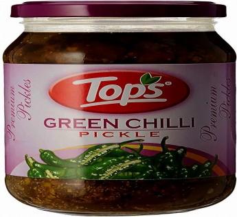 Tops Pickle Green Chilli, 400 g