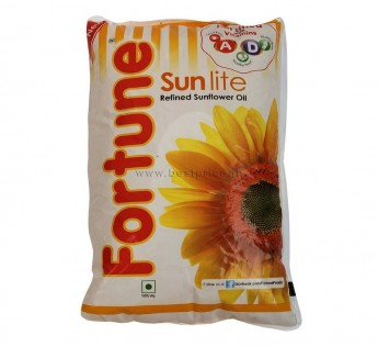 Fortune Oil Sunflower Oil Pouch 1 Litre