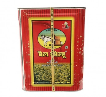 Bail Kolhu Mustard Oil Tin, 15 Litre