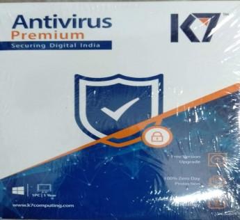 K7 Antivirus Premium- 1 User, 1 Year (Pack of 2) (CD)