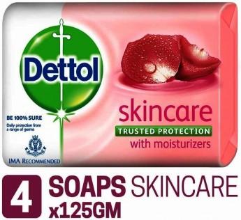 Dettol Skin care Soap 4 N 125gm Dettol Skin Soap