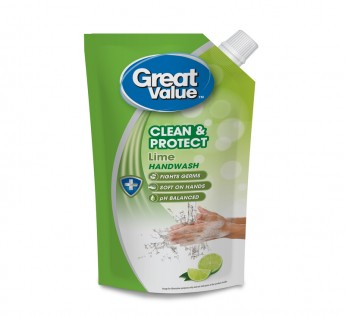 Great Value Lime Handwash Pouch 750ml Great Value Handwash