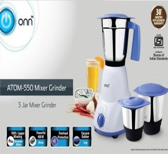 ONN 400W Atom550 Mixer Grinder 1 N