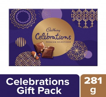 Cadbury Celebrations Premium Assorted Chocolate Gift Pack 281gm Cadbury Celebrations Chocolate Gift Pack