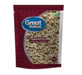 Great Value Cashews 4 Piece 200gm Cashews Great Value