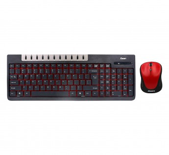 Foxin Keyboard and Mouse Combo FWC 601 Wireless Multimedia Keyboard and Mouse Combo Black