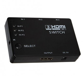 Technotech HDMI Switch Splitter 3 Ports HDMI Switch Box HDMI Splitter, HDMI Hub, Hdmi Male to Dual Hdmi Female 1 to 3 Way Cable Adapter Converter Support 4K 2K 1080P 3D