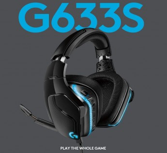 Logitech G 633S 7.1 LIGHTSYNC Gaming Headsets with DTS Headphone:X 2.0 Surround for PC/Mac/PS4/Xbox One/Nintendo Switch(Black)