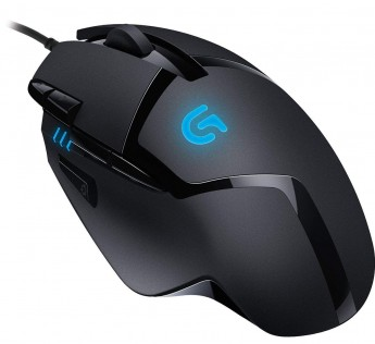 Logitech G402 Mouse Hyperion Fury Wired Gaming Mouse, 4,000 DPI, Lightweight, 8 Programmable Buttons, Compatible with PC/Mac Black