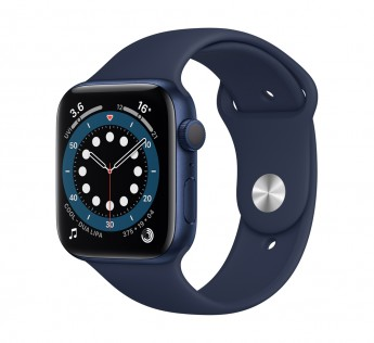 Apple Smart Watch Series 6 GPS - 44 mm Blue Aluminium Case with Deep Navy Sport Band