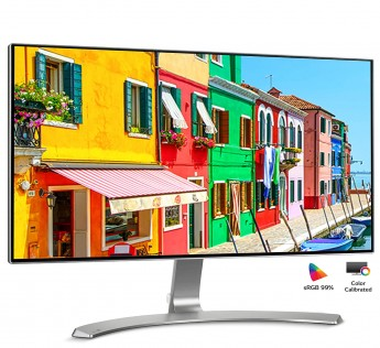 LG 23.8 inch (60.45 cm) Borderless LED Monitor - Full HD, IPS Panel with VGA, HDMI, Audio in/Out Ports and in-Built Speakers - 24MP88HV (Silver/White)