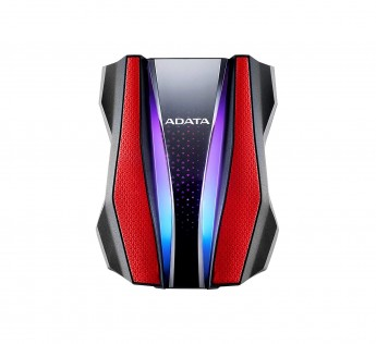A-DATA HD770G 2 TB Portable External Hard Drive - Red
