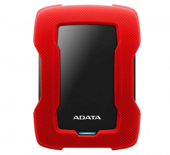ADATA HD330 External Hard Drive with AES 256-bit encryption Dashingly Tough (1TB, RED)