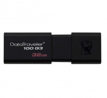 Kingston DataTraveler DT100G3 32GB USB 3.0 Flash Drive (Black)