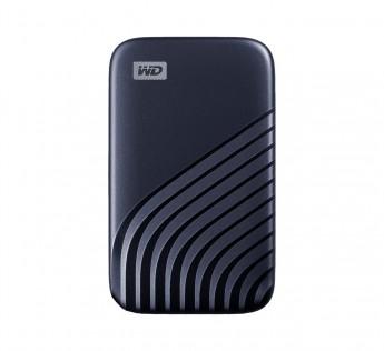 WD My Passport SSD 500GB, Midnight Blue, 1050MBs Read, 1000MBs Write, for PC & Mac
