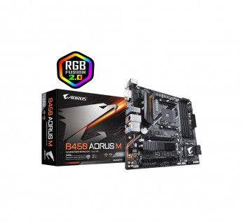 GIGABYTE Motherboard B450 Motherboard AORUS M Motherboard with Hybrid Digital PWM, M.2 with Thermal Guard,RGB Fusion 2.0