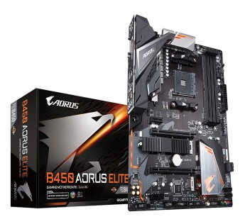 Gigabyte Motherboard B450 Motherboard AORUS ELITE (AMD Ryzen AM4/ M.2 Thermal Guard/Hmdi/DVI/USB 3.1/DDR4/ATX/Motherboard)