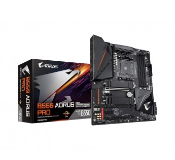 GIGABYTE Motherboard B550 Motherboard AOacRUS PRO Motherboard with True 12+2 Phases Digital VRM, Dual PCIe 4.0/3.0 x4 M.2 with Thermal Guards, 2.5GbE LAN, RGB Fusion 2.0