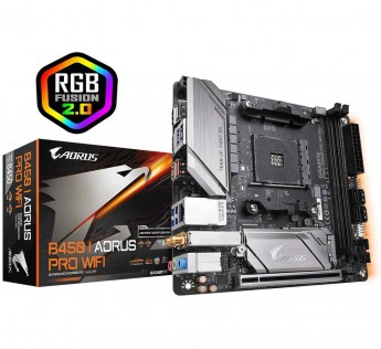 Gigabyte Motherboard AMD B450 Motherboard AORUS PRO WiFi AORUS Motherboard with 4+2 Phase IR Digital PWM, Intel® Dual Band 802.11ac Wave2 WiFi, RGB Fusion 2.0