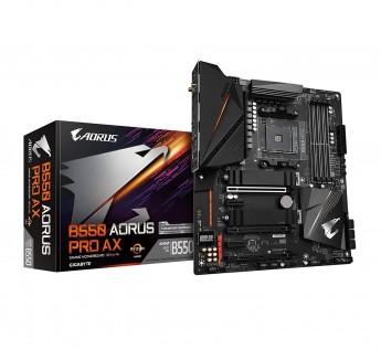 GIGABYTE Motherboard B550 Motherboard AORUS PRO Motherboard (AM4 AMD/B550/ATX/Dual M.2/ SATA 6Gb/s/USB 3.2 Gen 2/2.5 GbE LAN/ALC1220-VB/RGB Fusion 2.0/PCIe4/DDR4/Gaming Motherboard