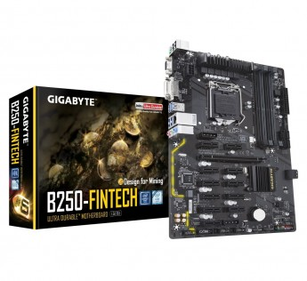 GIGABYTE Motherboard B250 Motherboard FinTech LGA 1151 Intel B250 Mining Motherboard for 6th and 7th Gen CPU