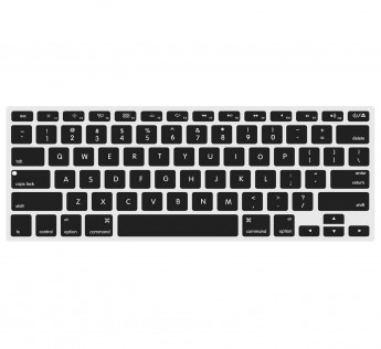 Apple MacBook Laptop cover Keyboard Protector Skin Cover for Apple MacBook Pro 15-Inch with Retina Display Model: A1398 (Release on 2012-Early 2016) -Black with Clear