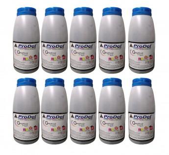 ProDot PP-H-KOB1249 Laserjet Toner Powder Refill Bottle Cartridge Kit Compatible (Black, Pack of 10)