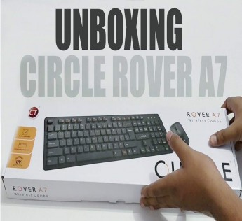 Circle Keyboard And Mouse ROVER A7 WIRELESS COMBO (WHITE)