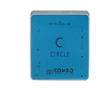 Circle-3 USB HUB + ALL IN ONE CARD READER 6.1 (BLUE)