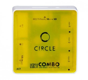 Circle- 3 USB HUB + ALL IN ONE CARD READER 6.1 (YELLOW)