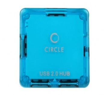 Circle -4 PORT MOBILE USB HUB 4.3 (BLUE)