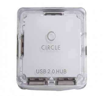 Circle-4 PORT MOBILE USB HUB 4.3 (WHITE)