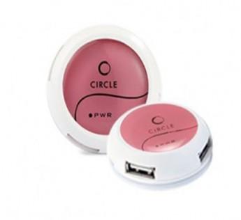 Circle-4 PORT MOBILE USB HUB 4.2 (PINK)