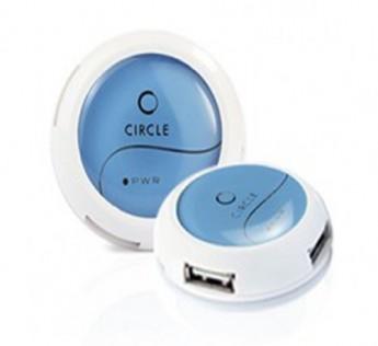 Circle-4 PORT MOBILE USB HUB 4.2 (BLUE
