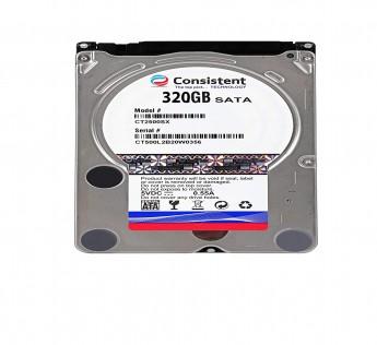 "Consistent Laptop HDD 320GB, 8MB Cache 5400RPM, SATA 3.0Gb/s 2.5"""