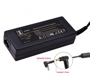 19V 3.42A Adapter Lapgrade  Charger for Acer Aspire E1-521 E1-531 E5-571 E5-531 E5-551 E5-721 Series (Without Power Cable)