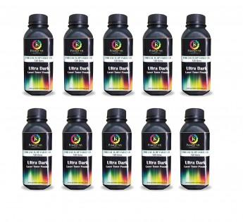 Printstar Print Star Ultra Dark Black Toner Powder for Use in HP 12A / 15A / 49A / 53A / 55A / 28A / 26A / 05A / 280A / 79A / 16A / 11A / 51A / 64A Canon FX9 / 103/703 / 903 Pack of 10